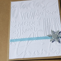Snowflake Thank You Cards- Winter Wedding