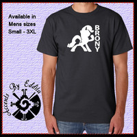 BRONY Mens T Shirt available in sizes S - 3XL Great Gift for all Pony Lovers Silhouette your choice Rarity or Twilight