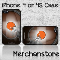 Cleveland Browns NFL Team Custom iPhone 4 or 4S Case Cover