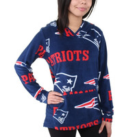 New England Patriots Women's Ramble Microfleece Pullover Hoodie – Navy Blue - http://www.shareasale.com/m-pr.cfm?merchantID=7124&userID=1042934&productID=552166274 / New England Patriots