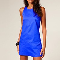 ASOS | ASOS Shift Dress with High Cut Neck at ASOS