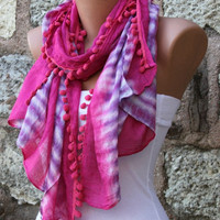 Multicolor Women Shawl Scarf -  Cowl