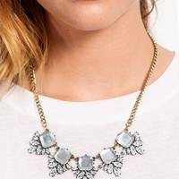 BLOOM DIAMOND STONE NECKLACE