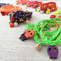 10 wholesale skull bracelets, halloween wholesale jewelry, Halloween accessories