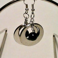 Black & Silver Dangle Earrings By DeerwoodCreekGifts
