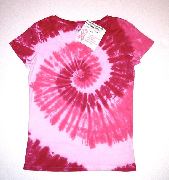 Breast Cancer Awareness Tie Dye Shirt From Tie Dye By Sandy