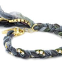 Ettika Multi Blue Braided Vintage Ribbon Rhinestone Crystal Bracelet: Jewelry: Amazon.com