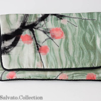 Hand Painted Clutch - SILK Couture Designer Purse NWOT