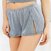 Out From Under Rib Short- Grey