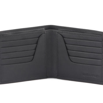 Bi-Fold Hipster Wallet in Soft Nappa Leather - 300798