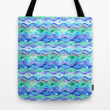 Ocean Pattern Tote Bag by Timone