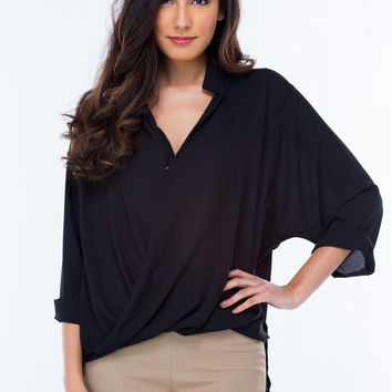 Take Drape Surplice Blouse