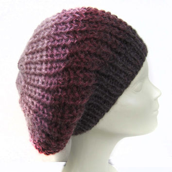 OMBRE beanie.Handknitted beanie / Hat /Very nice and romantic accessories for women./ Fashion Trends 2014-15