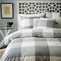 City Gingham Duvet Cover + Shams