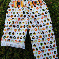 Halloween Inspired Unisex Convertible Pants to Capri or Board Short Length Handmade Ready to Ship Size 3 Other sizes via Custom Order
