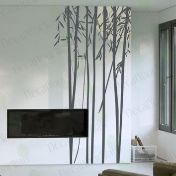 "94"" tall Large Bamboo Tree Removable Vinyl Wall Decals Wall Art Sticker Home Decor"