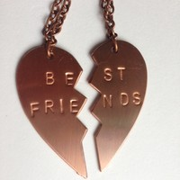 BFF Best Friend pendant, key chain, stamped customized personalized