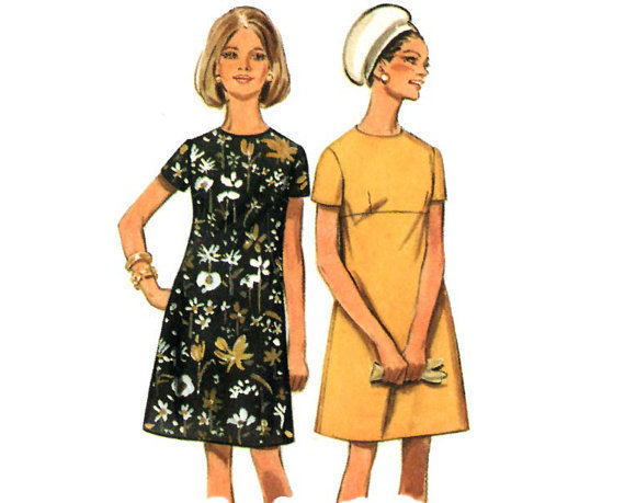 vintage sheath dress sewing pattern 60s from