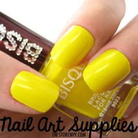 Lemon Yellow - Bright Yellow Nail Polish Lacquer 16ml from nailartsupplies