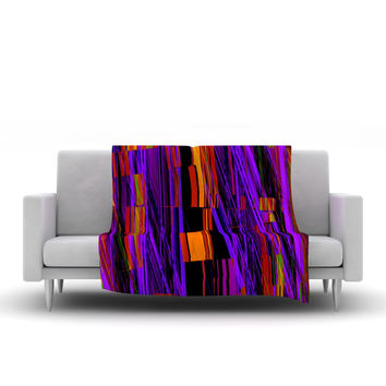 "Nina May ""Threads"" Large Fleece Blanket - Outlet Item - 90"" x 90"""