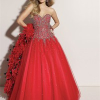 Graceful A-line Sweetheart Floor Length Tulle Prom Dress-$165.98-ReliableTrustStore.com
