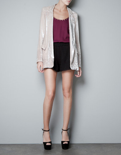 WASHED-OUT SILK VELVET BLAZER - Blazers - Woman - ZARA United States