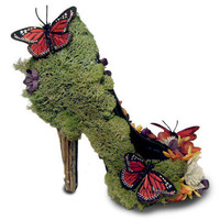 Sexy Eco Friendly Butterfly Garden Nature High Heel Pumps