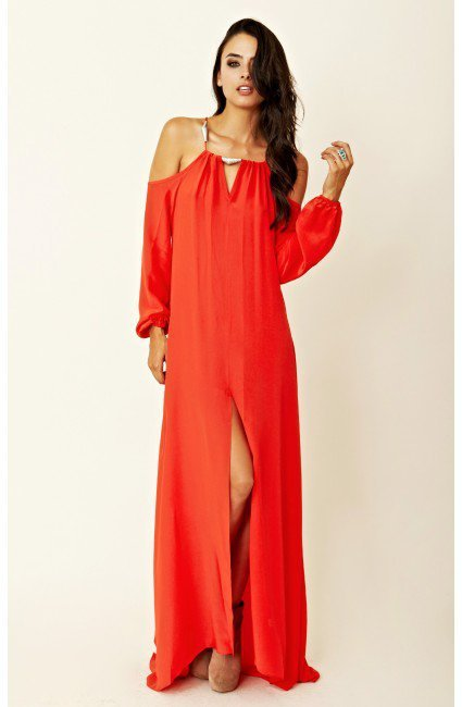 Alexis Barbara - V-Neck Long Dress