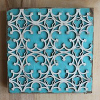 Gothic Pattern Wooden Wall Plaque by hijackedceramics on Etsy