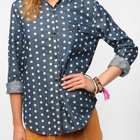 BDG Polka Dot Button-Down Denim Shirt