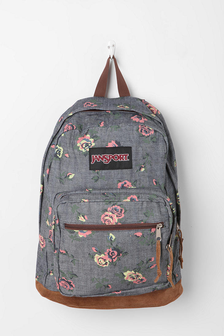 Jansport Floral Chambray Backpack From Urban Outfitters Epic