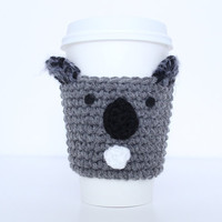 Koala Crochet Coffee Cozy Cute Animal Cup Sleeve