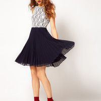 A Wear Poppy Pleat Dress at asos.com