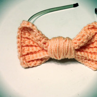 Crochet Bow Headband on Luulla