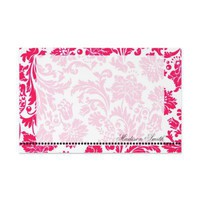 Pretty in Pink Damask Personalized Stationery