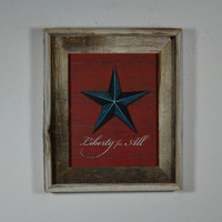 Liberty for All  print in 8x10 barnwood frame