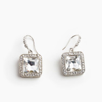 Rhinestone Box Earrings