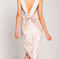 Shiny Shimmery Knotted Back Dress