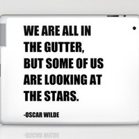 Oscar Wilde Stars Quote Print (Black &amp; White) Laptop &amp; iPad Skin by Ink the Print | Society6