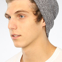 The Pirate Patch Fold Beanie in Charcoal