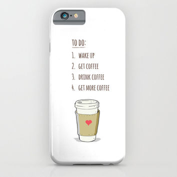 Coffee! iPhone & iPod Case by Kate & Co.