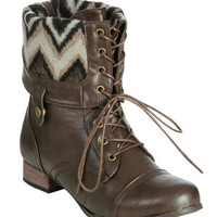 Foldover Combat Boot (Wide Width) | Shop Just Arrived at Wet Seal