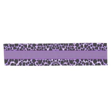 Luxurious Lavender Leopard Table Runner