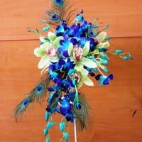 Exotic Peacock wedding flowers 