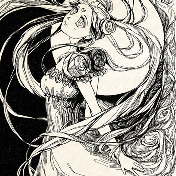 Moon princess Serenity - Sailor Moon Art Print by Annike