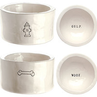 One Kings Lane - The Pet Shop - Gulp & Woof Dog Bowls