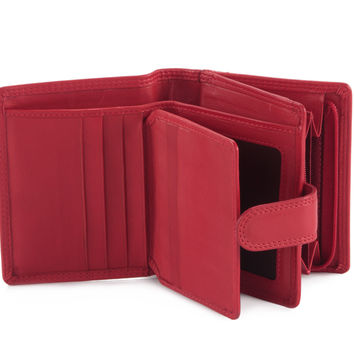 Small Clutch Wallet for Ladies in Soft Nappa Leather - 300952
