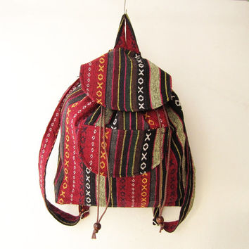 boho rucksack, hipster backpack, aztec school bag, tribal backpack, hippie backpack, native american bag,nepali shoulder bag,gift idea