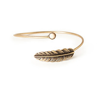 Leaf Bangle & Stud Set
