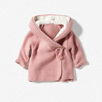 DOUBLE-BREASTED JACKET WITH SHEEPSKIN HOOD - Collection - Mini (0-9 months) - Kids - ZARA ZARA_XA